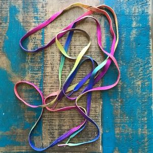 Shoes - rainbow shoestrings